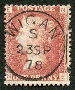 SG43 Penny Plate 192 (NE) Very Fine CDS used