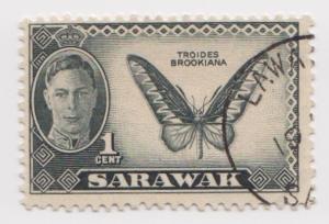 Sarawak -Scott 180 - KGVI Definitives - 1950 - VFU - Single 1c Stamp