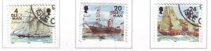 Isle of Man Sc 69-7 1996 Ships stamp set used