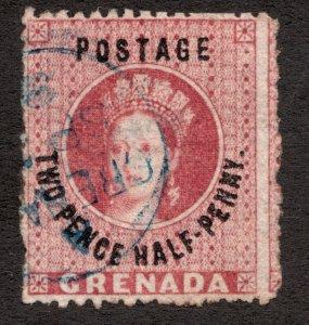 Sc 12 - Grenada - 1881 - 2 Pence ½ Penny - QV -  Used F -  superfleas - cv$10