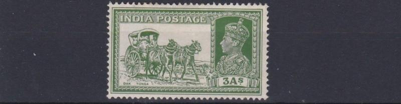 INDIA  1937    SG  253     3A YELLOW GREEN      MH