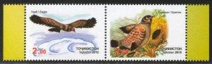 Tajikistan 2015 birds set of 2v MNH