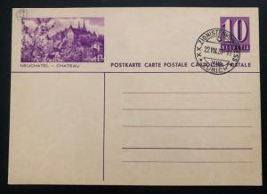 1937 Zurich Switzerland Zionist Congress Postal Stationary Postcard Cover