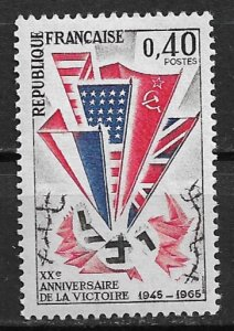 1965 France 1121 WWII Victory 20th Anniversary MNH