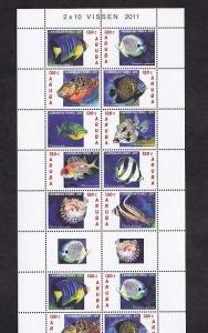 Aruba  #380   MNH  2011  sheet with 2  blocks of  10  + 2 labels  fish
