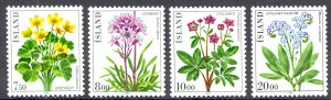 Iceland Sc# 567-570 MNH 1983 Flowers