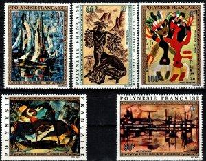 French Polynesia  #C89-93 MNH CV $102.75 (V6293)