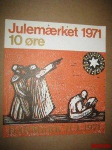 Denmark. Christmas Seal. 1971. 1 Post Office,Display,Advertising Sign. Stars