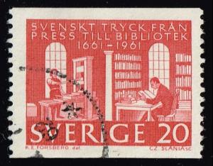Sweden #600 Royal Library; Used (0.30)