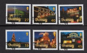 Guernsey   #750-755   2001 cancelled    Christmas   Hafnia 01