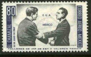MEXICO C282 US-Mex Chamizal Treaty J.F.K.-Lopez Mateos MINT, NH. VF.
