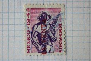 Mexico Revenue R767D 1942 100p pesos VENTA