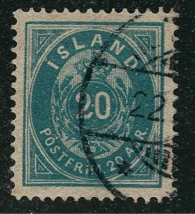 Iceland 1882 Sc#17 Used VF Cat $67.50...Quality Bargain!