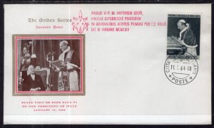 Vatican City Pope Paul VI Visit with The President of Italy 1964 Cover