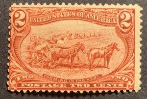 #286 – 1898 2c Trans-Mississippi Exposition.  MH OG.