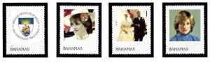 Bahamas 510-13 MNH 1982 Princess Diana