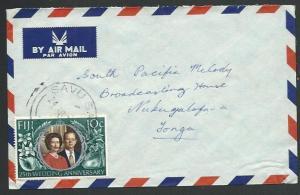 FIJI 1973 airmail cover to Tonga, 10c SW, SAVU SAVU cds....................61765