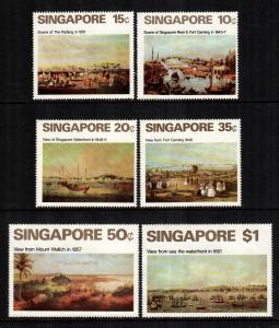 singapore 144 - 149  MNH cat $ 60.00