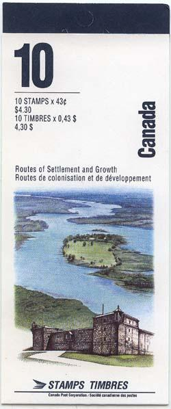 Canada - 1993 43c Heritage Rivers Booklet Complete #BK161b USC Cat. C$12. VF-NH