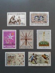 Timor 271,288,290,319,333-334,343. F-VF MH. Scott $ 11.30