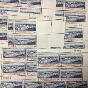 1164    First Automated Post Office. 25 Plate blocks MNH 4 cents. Issued in 1960