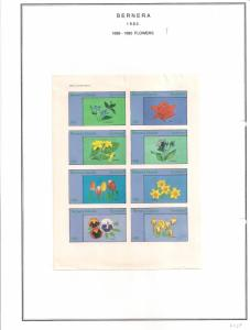 SCOTLAND - BERNERA - 1982 -Flowers (26) - 8v Imperf Sheet - MLH