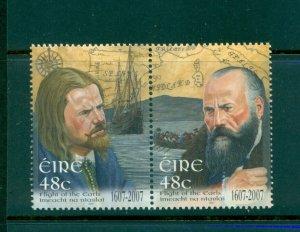 Ireland - Sc# 1707a. 2007 Flight of The Earls. MNH Pair. $3.00.