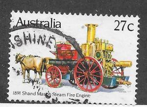 Australia #857 27c 1891 Steam Fire Engine (U) CV $0.30