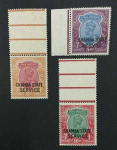 MOMEN: INDIA CHAMBA SG #O58-60 MINT OG NH LOT #193938-2325