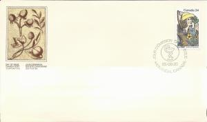 1985 Canada FDC Sc 1060 - Louis Hebert and Apothecary objects