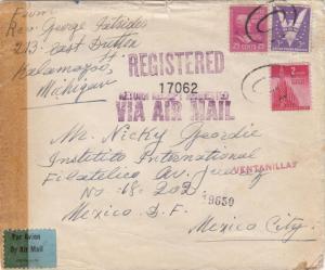 1943, Kalamazoo, MI to Mexico City, Mexico, Censored, See Remark (C2298)