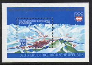 DDR #1701 MNH S/S CV$1.75 Innsbruck Mountains