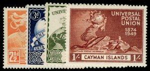 CAYMAN ISLANDS SG131-134, COMPLETE SET, VLH MINT. UPU