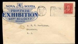 Nova Scotia Provincial exhibition 1933 slogan  cover Canada