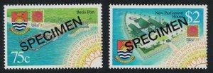Kiribati Port Parliament Development Projects 2v Specimen SG#631-632