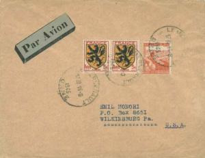 France Soldier's Free Mail 1945 Depot 402 des P.G. de l'Axe to Ovid, N.Y. For...