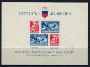 Liechtenstein #B14* Souvenir Sheet  CV #17.50