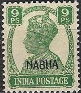 India-Nabha 1942 King George V C# 102 Mint NH VF