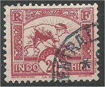 INDO-CHINA, 1931, used 20c, Planting Rice Scott 162