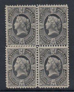 Guatemala 1875 Liberty Head Quarter Real Black Block x 4 MNG. Scott 7
