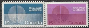 Canada 513-4  MNH  United Nations 25th Anniversary
