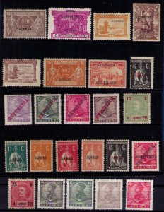 Sc 126-131 Portugal Colony LOT MH Lot 1895/1925 Azores Islands (24 Each) VF