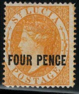 St Lucia 1883-1884 SC 21 Mint SCV $325.00