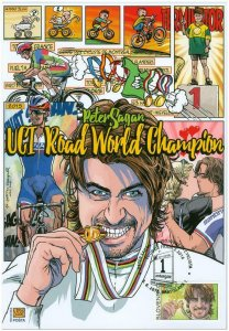SLOVAKIA/2016, (Coll. Sheet) Peter Sagan The Most Combative Cyclist of TdF, MNH