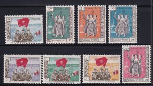 1961 Laos Local Semi-Postal Xieng Khouang  Set of 8 MNH XF Scarce , SG # 1-8