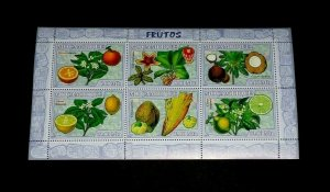 TOPICAL MIXED, 2007, MOZAMBIQUE, FRUITS, S/S, LOT #100, MNH, LQQK