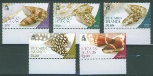 Pitcairn Islands SC#591-4 Sea Shells, set, MNH