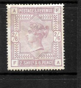 GREAT BRITAIN  1883-84  2/6  LILAC    QV   MH   SG 178