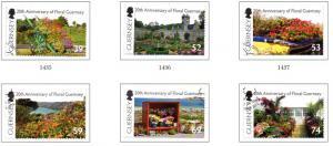 Guernsey Sc 1179-4 2012 Floral Guernsey stamp set used