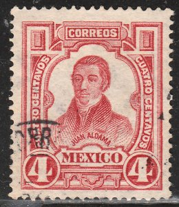MEXICO 313, 4cts INDEPENDENCE CENTENNIAL 1910 COMMEM. USED. F-VF. (430)